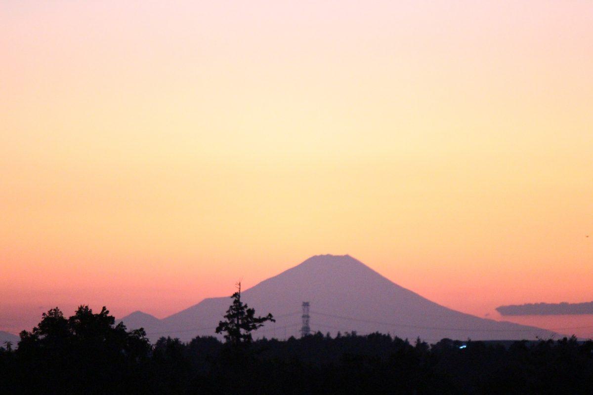 筑波山と富士山