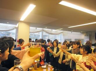 感謝と決意を胸に、乾杯!