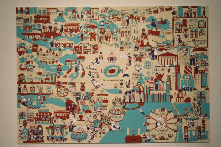「LONDON MAP」 角田真季