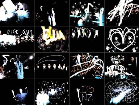 光を使って空間に絵と音を書き込む装置