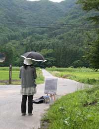 滞在中、しばしば雨に降られました。